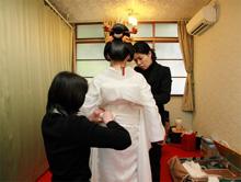 赤坂氷川神社の着付けの模様