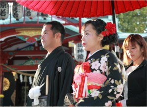 結木神社 結婚写真
