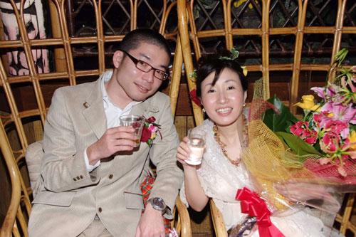 ハワイアン的 結婚写真