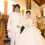エントランスの結婚写真 ベィシェラトン横浜